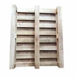 4 Way Brown Rectangular Hardwood Pallet, For Warehouse, Capacity: 2200 Kg