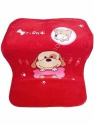 Cotton Red Baby Printed Blanket