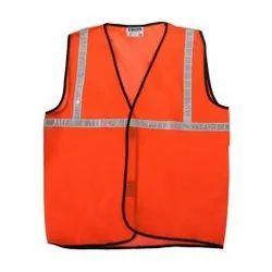 Orange High Visibility Safety Jacket