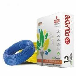 1.5 sqmm Polycab Flame Retardant Lead Free Wire, 90m