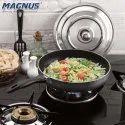 Magnus Optima Non-Stick Aluminium Fry Pan,(230 mm) Bakelite Handle, Hammertone Finish