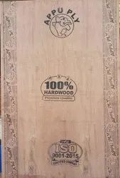 Brown Appu Ply Hardwood Plywood Board, For Furniture, Thickness: 12mm