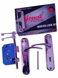 Gopal Iron Emortic Door Handel Set, Turn