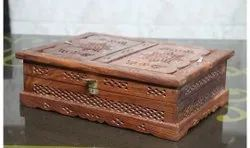 Rectangle Seesham Wooden Box, For Packaging, Size: 4 Inches