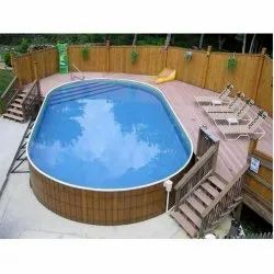 Oval Shaped Swimming Pool Construction Service