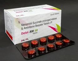 Metoprolol Succinate Er 50 + Amlodipine Besilate 5 mg Tablet