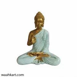 Spiritual Gautam Buddha Sitting Statue- golden Shade
