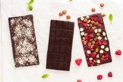 Brown Rectangular Dry Fruit Chocolate Bar