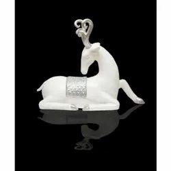 Frp White Deer Statue