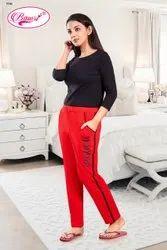Female Red Ladies Track Pant, Model Name/Number: BT - 28