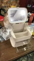 makeup cosmetic storage case with mirror&compartment