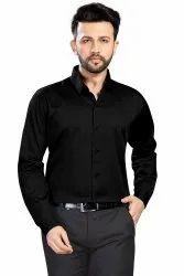 Plain 15 colour range Mens Satin Cotton Formal Shirt, Machine wash