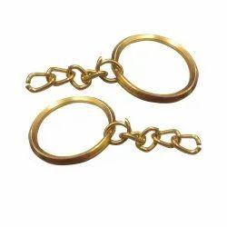 Golden Plated V Ring Keychain Ring