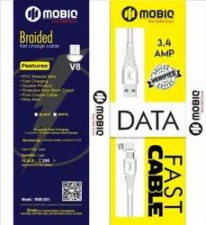 0beet D10 USB Cable data and fast charging, For Mobile Phone