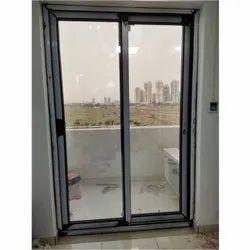 Folding Doors Grey UPVC Sliding Glass Door, For Office, Exterior