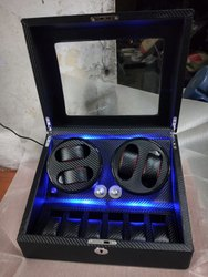 Medetai Luxury Watch Winder with LED Light 4+6 ( Full Carban )