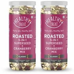 Healthy Treat Roasted 5 In 1 Seed + Cranberry Mix 300 Gm -pack Of 2-150 Gm Each
