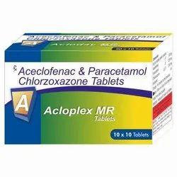 Paracetamol Aceclofenac Chlorzoxazone Tablet