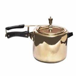 Golden 3L Brass Pressure Cooker, Size: 5 Inch