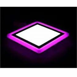 12W White Plus 4W Pink Square Surface Panel Light