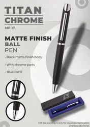 Matte Finish Ball Pen Titan Chrome