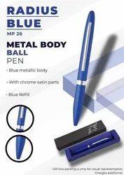 Metal Body Ball Pen Radius Blue