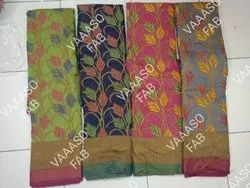 Weaving Party and Casual wear Brasso Saree