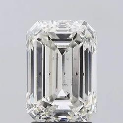 IGI White Emerald Shape Lab Grown Diamond 3.02 Carat H Si1, Symmetry: Excellent