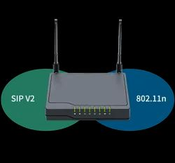 Wireless or Wi-Fi Black Flying Voice FWR8101 BSNL Airfiber VoIP Router, 300Mbps