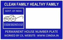 Permanent House Number Plate PVC Card