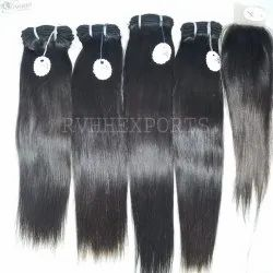 Indian Silky Straight Natural Human Hair Extension