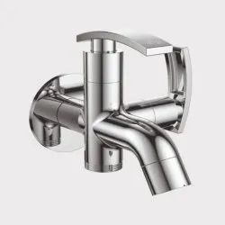 Felone Wall Mounted Cello 2 Way Bib Cock, For Bathroom Fittings, Size: 15mm (hole Diameter)