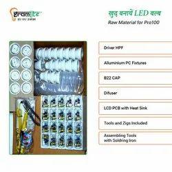 9w Hpf Driver Based LED Bulb Raw Material