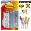 3M Command Round Cord Clips Clear 4pk - 17017CLR