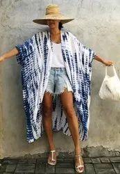 Bohemian Tie Dye Beach Cover Up Kimono