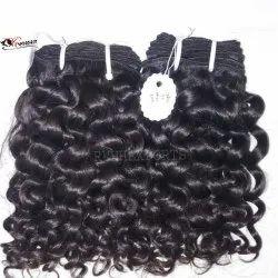 Deep Curly Machine Weft Human Hair