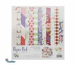 10x10 Floral Designer Paper Pack, GSM: 170 GSM, Size: 10 X 10 Inch Patterned Papers