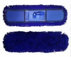 Dry Mop Set 18 Inch Cotton Blue Color 18 x 5 Inch  Dust Control Mop