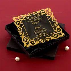 Laser Cut Box Clear Acrylic Wedding Card, 2 Leaflet