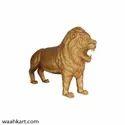 FRP Golden Lion Statue