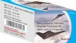 Methylcobalamin, Folic Acid, Thiamine, Pyridoxine HCl, Alpha Lipoic Acid Capsules