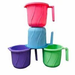 Pink Polypropylene Household Plastic Mug, For Bathroom, Capacity: 1 L