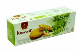 Kravour Sugar Free Ginger Oats Cookies, Packaging Size: 150g