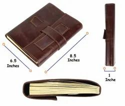 Refillable Leather Cover Journal Diary Notebook