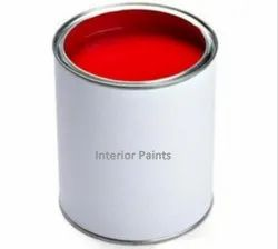High Gloss Red Interior Oil Based Paint, Tin, 1 Litre