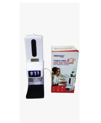 Contact-Less Thermometer With Hand Sanitizer Dispenser