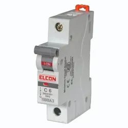 Elcon Mr.SAFETY 6A Single Pole Miniature Circuit Breakers Mcbs