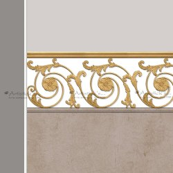 Brass Railings Staircase