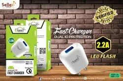 White ABS Plastic 0beet Charger 2.2amp, Model Name/Number: C116