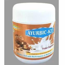 Ayurbic K-27 Lycopene, DHA with Multivitamins and Multimineral Protein Powder, Ayurda Healthcare, 200 G